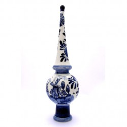 CHRISTMAS DECORATION TOP DELFT BLUE 23 CM
