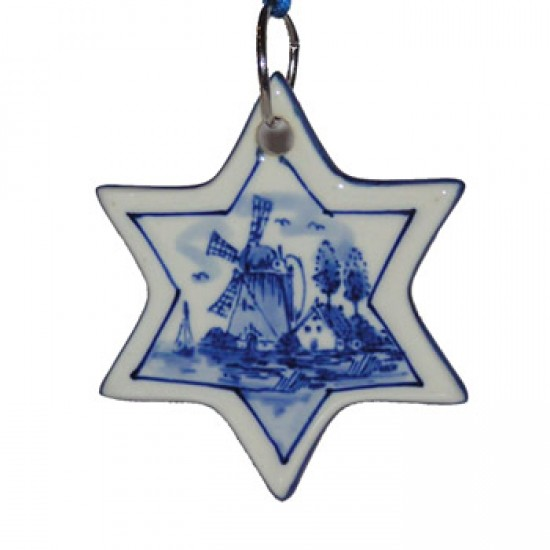 Kerst ster delftsblauw 1
