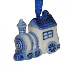 CHRISTMAS DECORATION LOCOMOTIVE DELFT BLUE