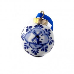 CHRISTMAS BALL DELFT BLUE 5 CM