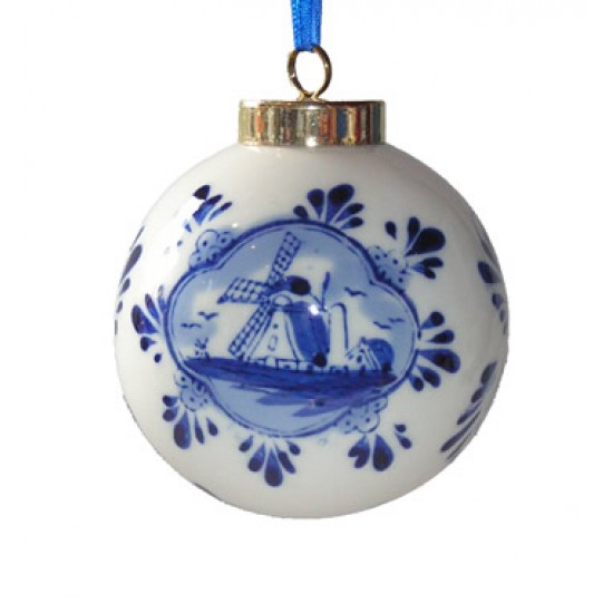 CHRISTMAS BALL DELFT BLUE 7 CM
