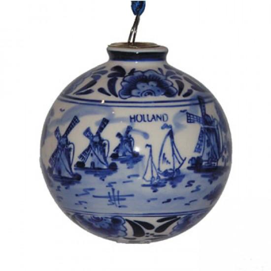 CHRISTMAS BALL DELFT BLUE MILL 8 CM