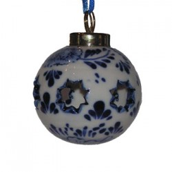CHRISTMAS BALL DELFT BLUE OPEN STAR 5 CM