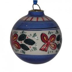 CHRISTMAS BALL DELFT BLUE POLYCHROME 7 CM
