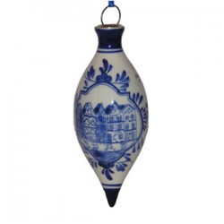 CHRISTMAS BALL DROPLET CANAL HOUSES DELFT BLUE