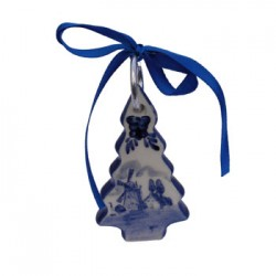 CHRISTMAS DECORATION TREE FLAT DELFT BLUE 8 CM