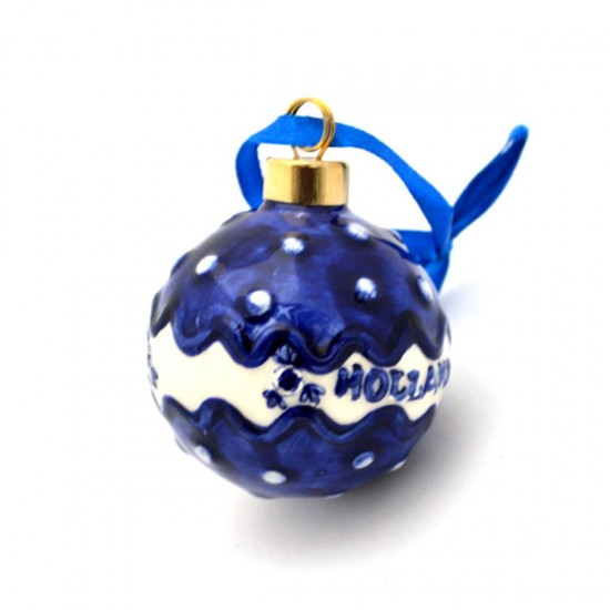 Christmas decoration ball Holland dots