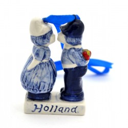 Christmas decoration kissing couple Holland