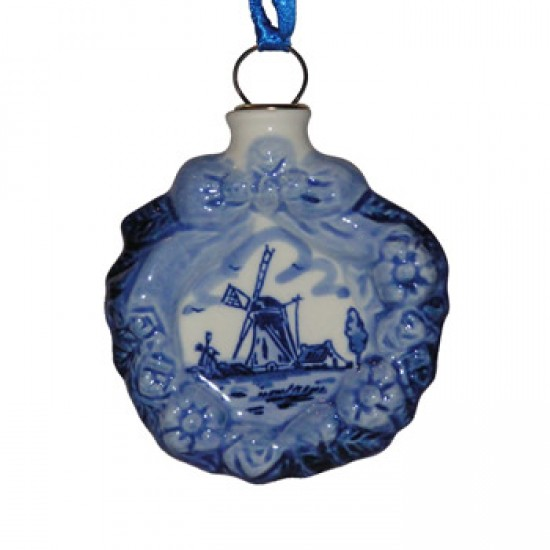 Christmas decoration christmas wreath delft blue