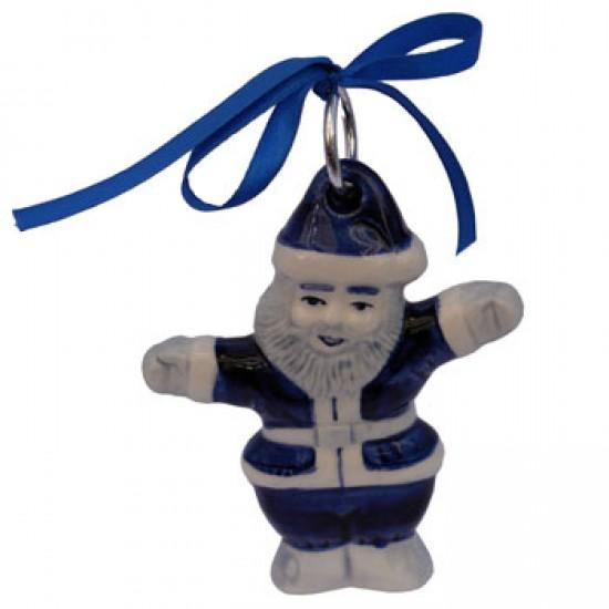 Weihnachtsmann flach delfter blau 11 cm