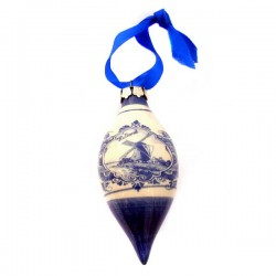 CHRISTMAS DROPS DELFT BLUE HOLLAND WINDMILL 10 CM