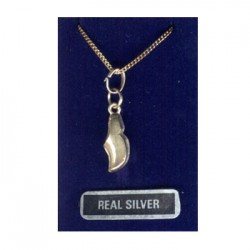 SILVER NECKLACE CLOG PENDANT