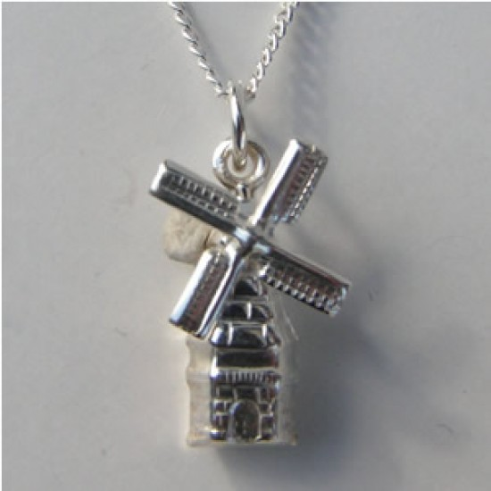 NECKLACE + PENDANT SILVER WINDMILL SMALL