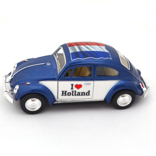 MINIATURE VOLKSWAGEN BEETLE LOVE HOLLAND BLUE