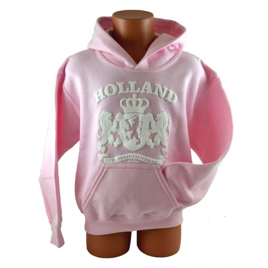 KIDS SWEATER HOODY PINK HOLLAND