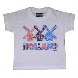 KIDS T-SHIRT HOLLAND WINDMILL PATCHWORK