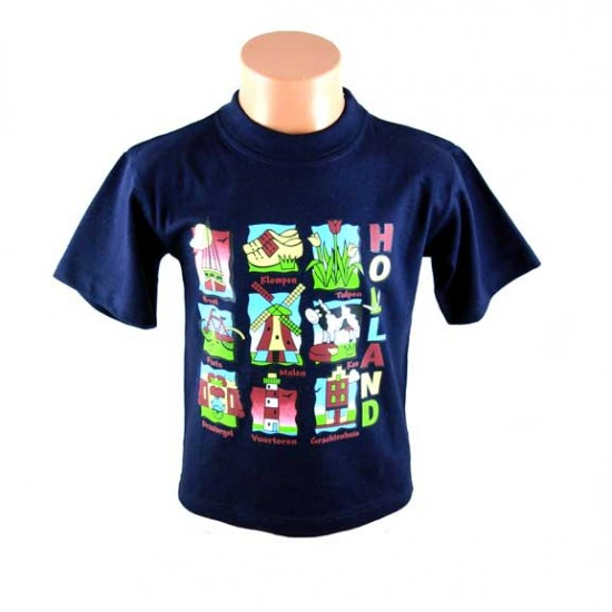 Kinder t-shirt holland plaatjes