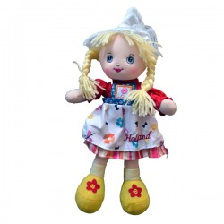 COSTUME DOLL TEXTILE HOLLAND RED