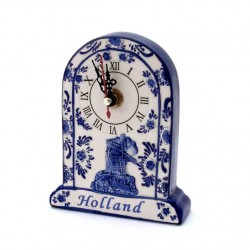 CLOCK HOLLAND DELFT BLUE RELIEF PORTRAIT