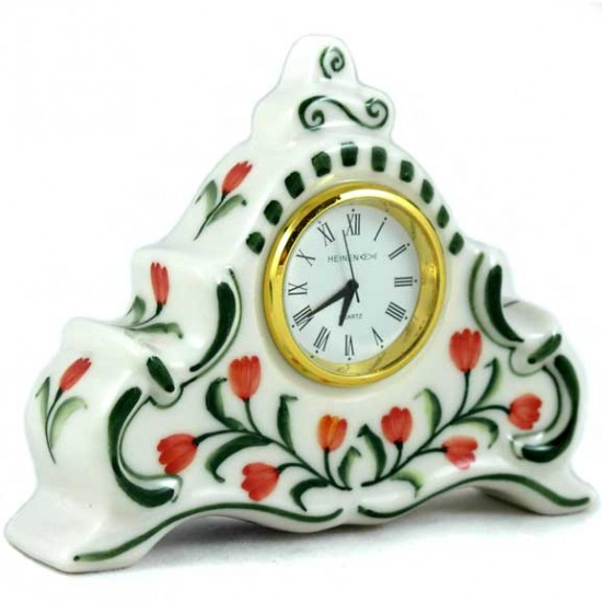 CLOCK CEREMIC COLOR TULIPS SMALL