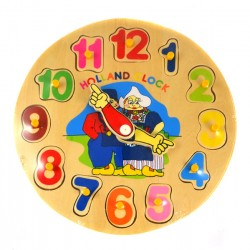 CLOCK PUZZLE HOLLAND WOODEN