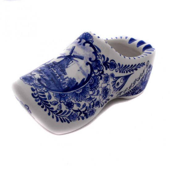 Clog ashtray delft blue holland 15 cm