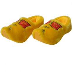 PLUSH CLOG SLIPPERS FARMER YELLOW