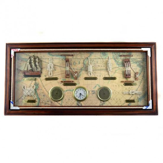 ROPE KNOT LIST HYGROMETER CLOCK THERMOMETER