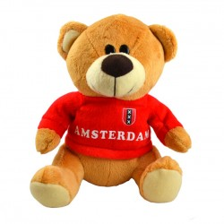 CUDDLE BEAR AMSTERDAM CROSSES RED 25 CM