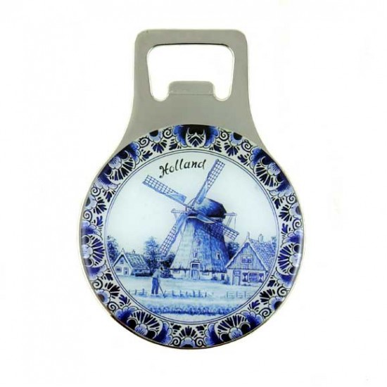 FRIDGE MAGNET BOTTLE OPENER DELFT BLUE