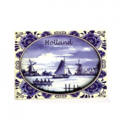 FRIDGE MAGNET HOLLAND DELFT BLUE 2D