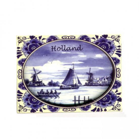 Fridge magnet holland delft blue 2d