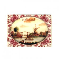 FRIDGE MAGNET HOLLAND POLYCHROME