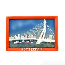 FRIDGE MAGNET ROTTERDAM ERASMUS BRIDGE 2D