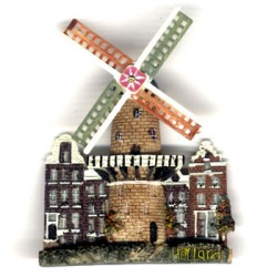 FRIDGE MAGNET GAUNTRY WINDMILL ROTATING BLADES COLOR