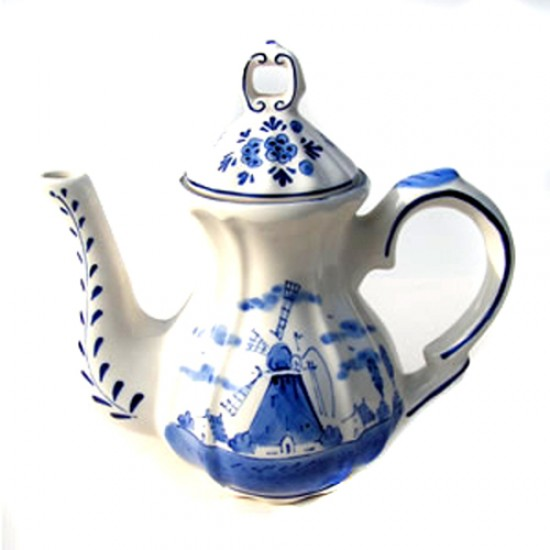 Coffeepot DELFT BLUE WINDMILL DECOR