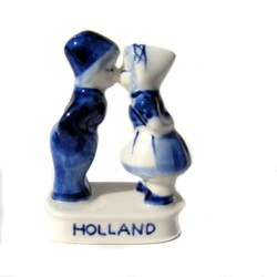 KISSING COUPLE 5 CM DELFT BLUE