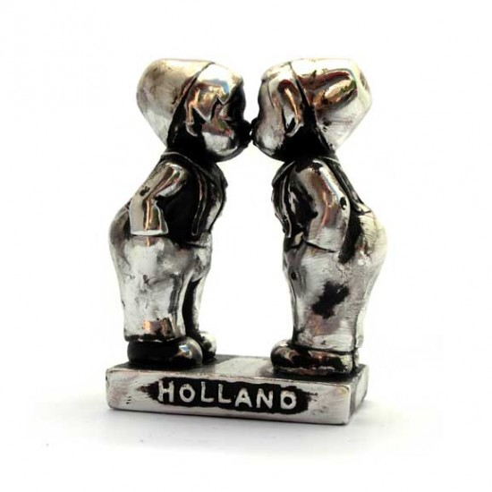 KISSING COUPLE GAY BOYS HOLLAND SILVER LOOK