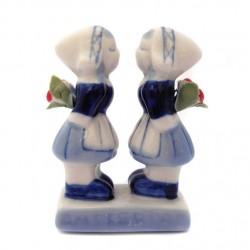 KISSING COUPLE GAY GIRLS AMSTERDAM TULIPS 6.5 CM
