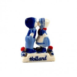 KISSING COUPLE DELFT BLUE CERAMICS RED TULIPS 5 CM