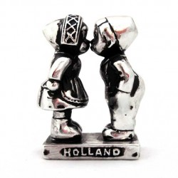 KISSING COUPLE HOLLAND SILVER LOOK 7 CM