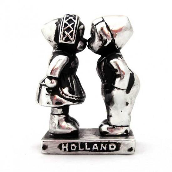 Küssendes paar holland silver look 7 cm