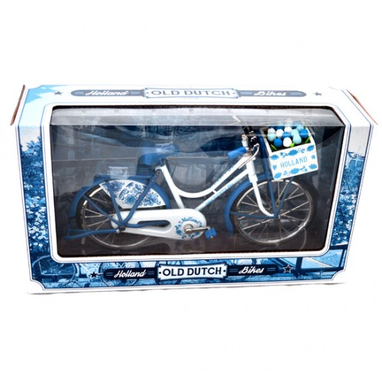 BICYCLE HOLLAND DELFT BLUE TULIPS WINDOW BOX