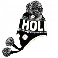 FLAP HAT HOLLAND BLACK WHITE SACHA ROBIN RUTH ORIGINAL
