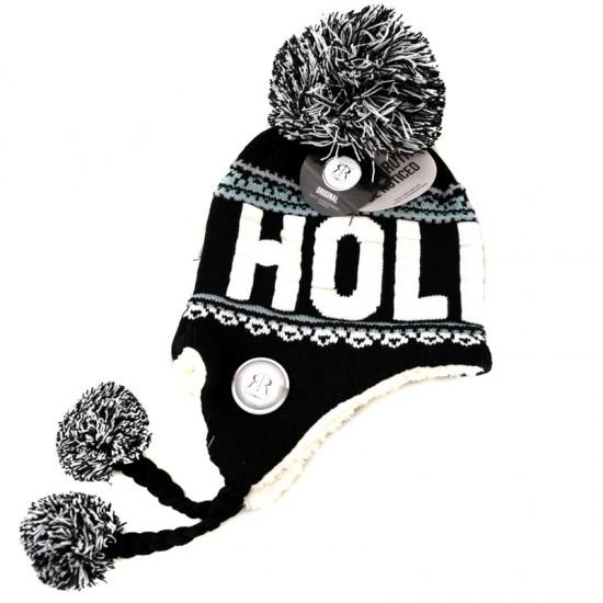 FLAP HAT HOLLAND BLACK WHITE SACHA ROBIN RUTH ORIGINAL
