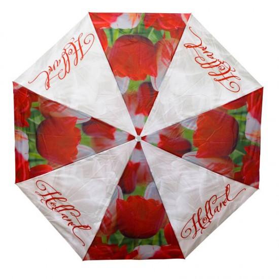 Paraplu rood wit holland tulpen