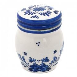 MINI DELFTER BLUE STORAGE JAR TAPS WINDMILL