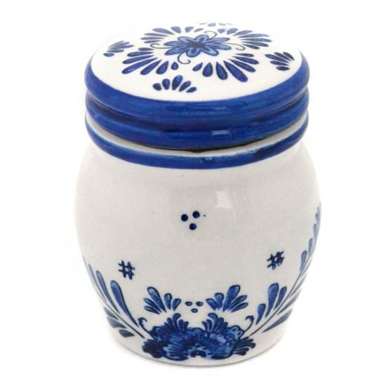 MINI DELFTER BLUE STORAGE JAR TAPS WINDMILL