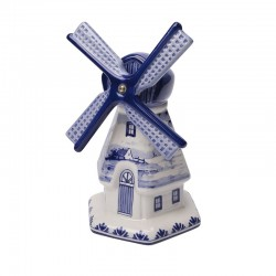 WINDMILL DELFT BLUE DECO  HEXAGON FOOT