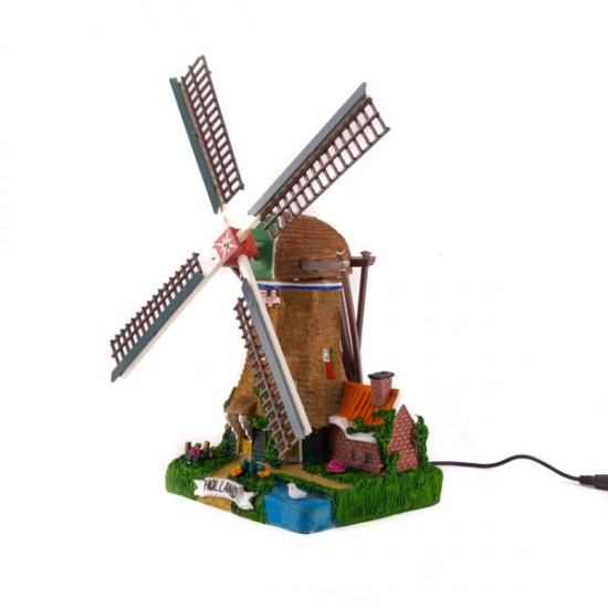 POLDER WINDMILL POLYSTONE ROTATING BLADES LIGHT COLOR